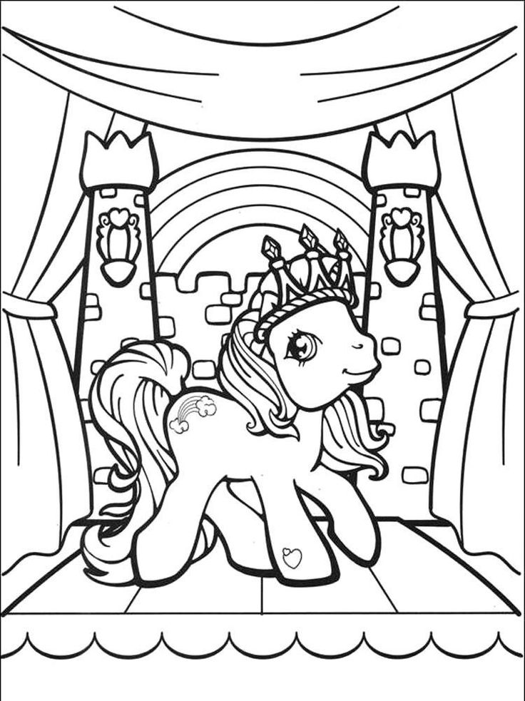 Old School Rainbow Dash Coloring Page | My little pony ...