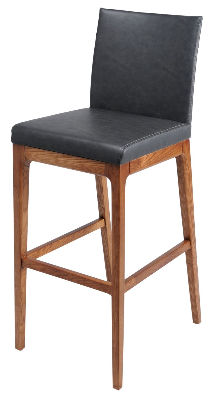 Charles Counter Stool Set of 2 DISTRESSED GREY