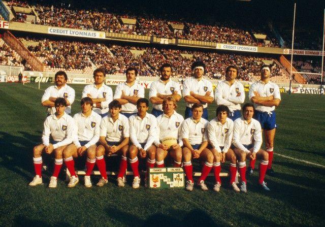 equipe de france 1984 rugby d 39 autrefois pinterest rugby. Black Bedroom Furniture Sets. Home Design Ideas