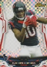 2014 Topps Finest Football X-Fractor #45 DeAndre Hopkins Houston Texans