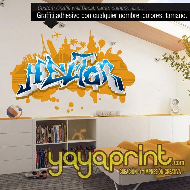 232 best graffiti nombre decoraci n habitaci n dormitorio for Vinilos habitacion juvenil nina