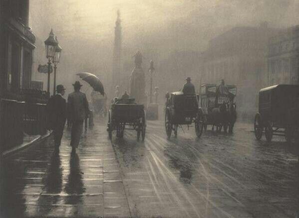 London, 1889.  Looks like a painting.