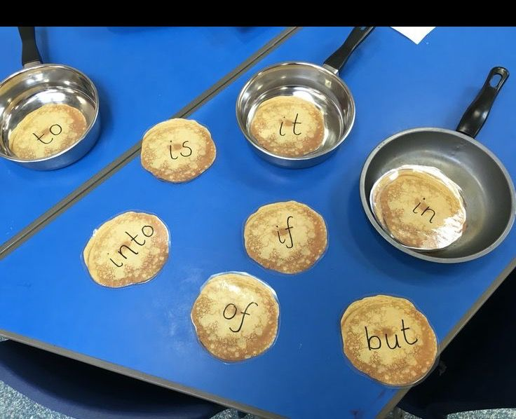 Shrove Tuesday Pancake day - early Years word recognition