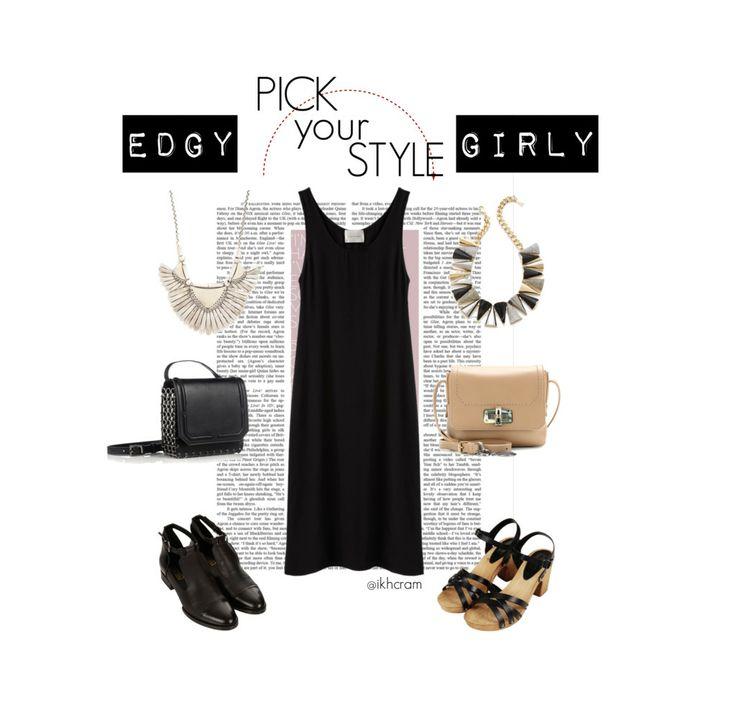Pick your style : long  black tank!