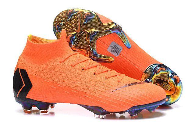 Delicate Nike Mercurial Superfly Vi Elite Fg Flyknit 360 Orange Black Boys Men S Firm Ground Soccer Shoes Soccer Shoes Soccer Boots Superfly