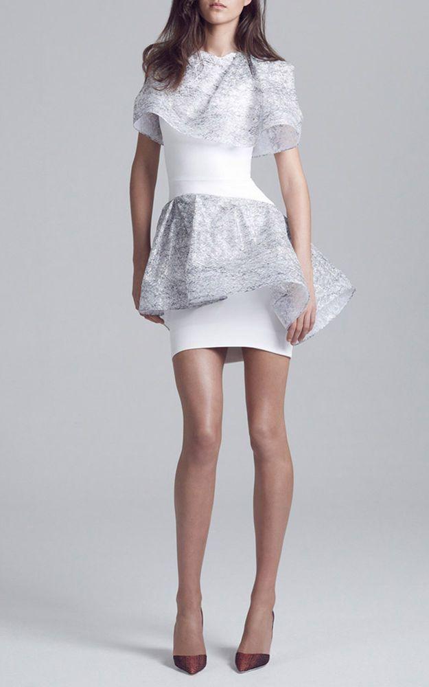 NWT $1640 MATICEVSKI 'Factor' Dress Lace Overlay Peplum  sz AUS 12 (US 8)  #Maticevski #WigglePencil #Cocktail