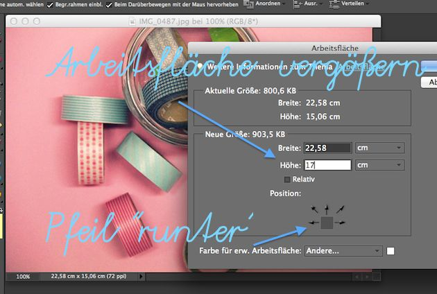 Wie man digitales Masking Tape an Fotos im Blog bekommt