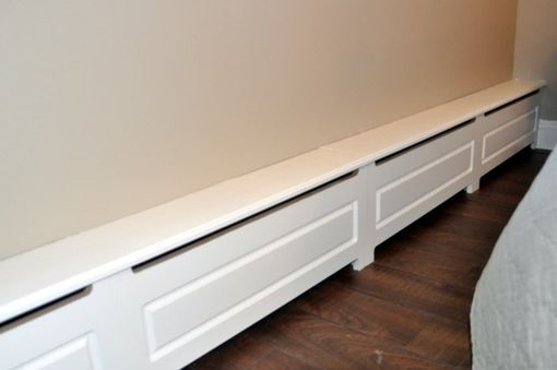 Custom Made Wood Baseboard Heater Cover baseboards
