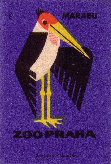 Prague Zoo: marabou stork, via Flickr.