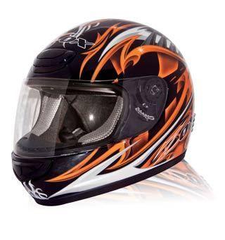 Zox Savo Jr Equinox Graphic Glossy Black Orange Motorcycle