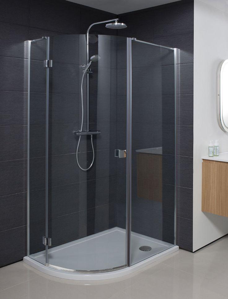 Design Quadrant Single Door Shower Enclosure in Quadrant | Luxury bathrooms UK, Crosswater Holdings