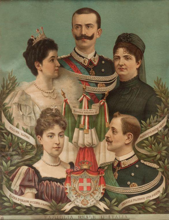 71544ea1e55d4 La familia real de Italia.