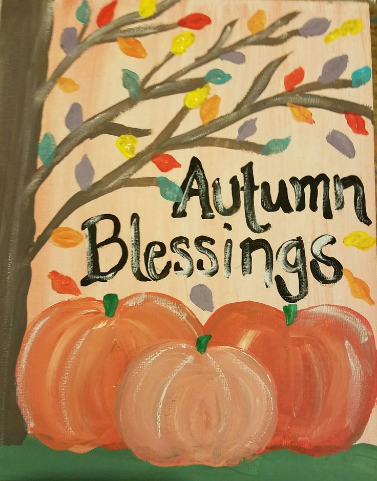 Primitive Autumn blessings fall pumpkin inspired by GainersCreekcrafts