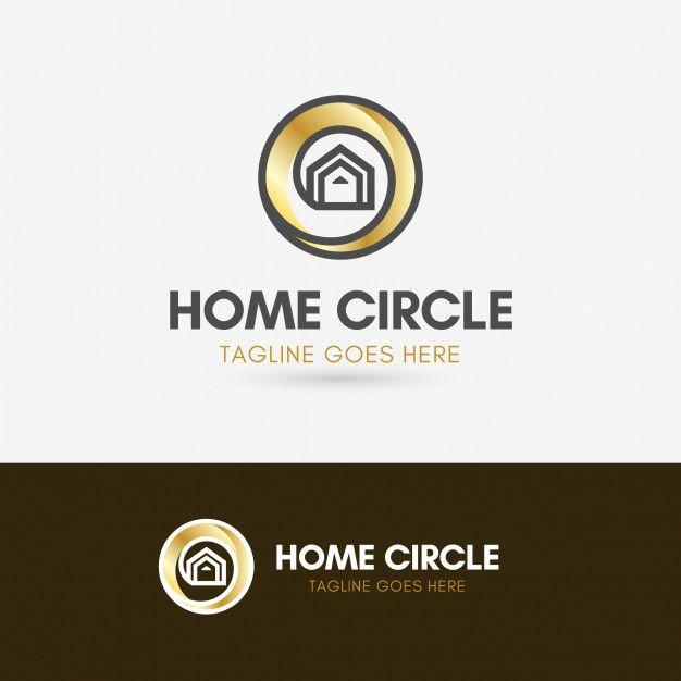 home circle logo premium vector logo template pinterest circle