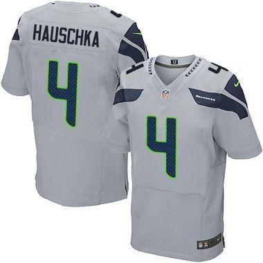 d8e07d52d ... seattle seahawks 4 steven hauschka gray alternate nfl nike elite mens  jersey ...