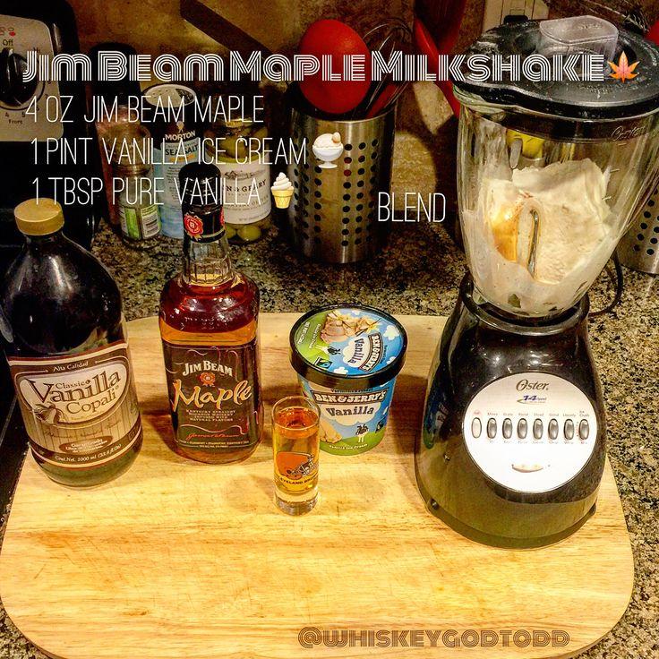 Jim Beam Maple Milkshake ! #jimbeam #milkshake #maple #whisky #whiskey #bourbon #beam #maplewhiskey #maplewhisky #maplebourbon #benandjerrys #vanilla #icecream #vanillaicecream #dram #mapleflavoredwhiskey #flavoredwhiskey #whiskeygod
