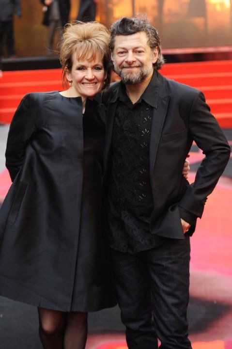 Lorraine Ashbourne and Andy Serkis at event of Godzilla (2014)