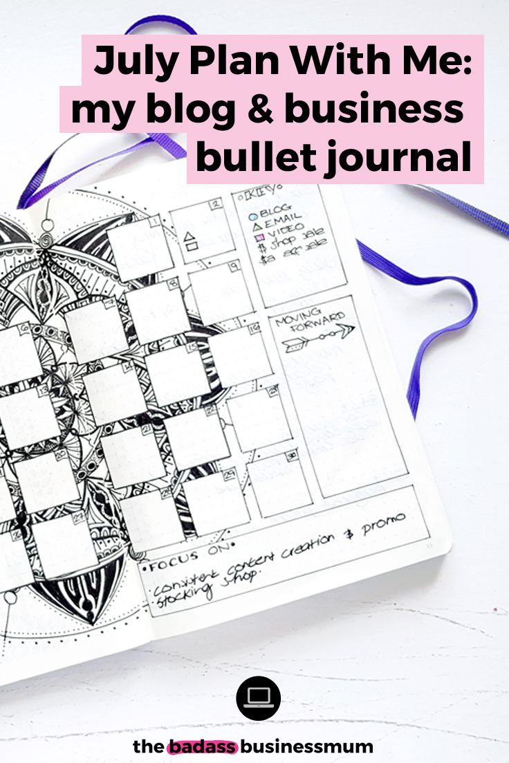 July Plan With Me: My Blog & Business Bullet Journal. My Bullet Journal set-up and ideas for using your Bullet Journal to plan & organise your Blog & Business.