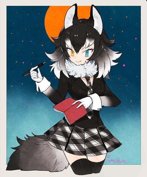 wolf anime neko werewolf furry kemono friends fanart avatar drawing manga silver heart