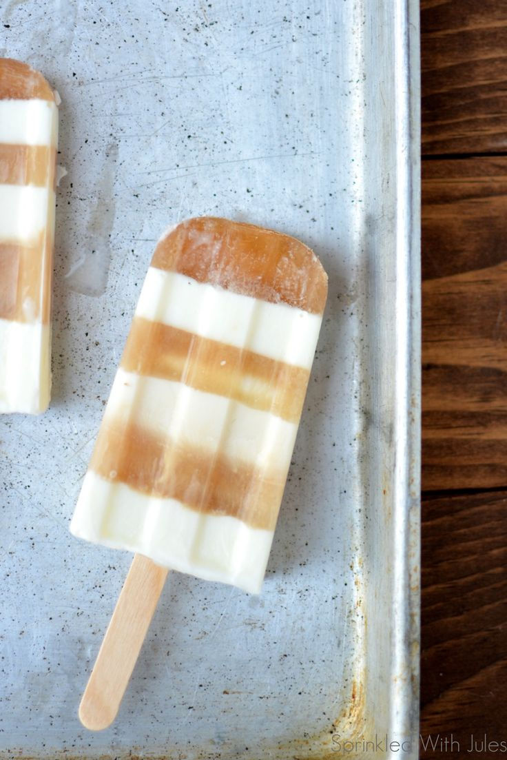 A chai tea latte, only in a popsicle. Say no more.
