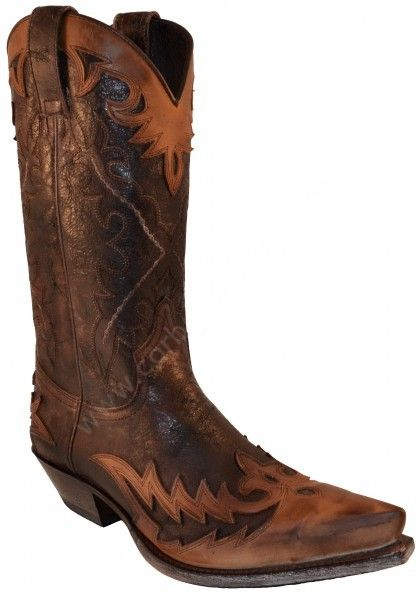 9669 Cuervo Floter Tang Borron Marrón-Barbados Quercia | Sendra Boots mens distressed leather cowboy boots 239€