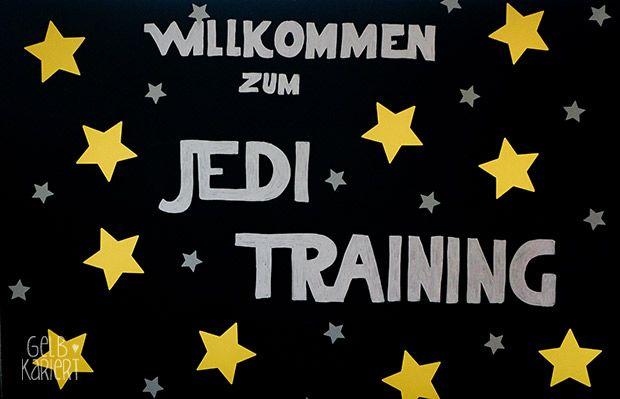 Star Wars Kindergeburtstag   Star Wars Party   Dekoration   Kuchen   Jedi Training   Spielideen   Bastelideen   Gelbkariert