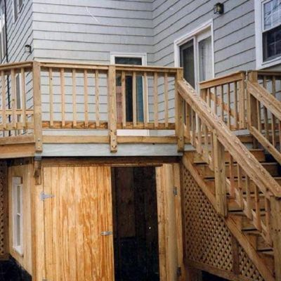 We rebuilt the original deck and added dry storage.  Notice the windows for light and ventilation – Newton