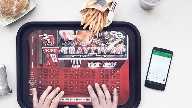 KFC introduces Tray Typer keyboard for greasy fingers