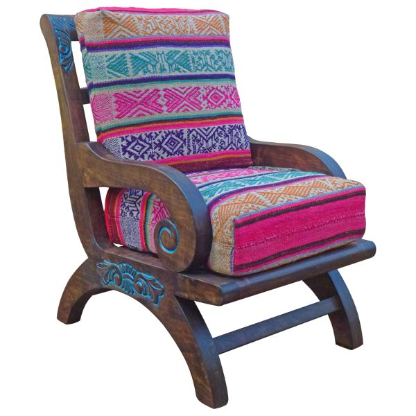 Pink Southwestern Chair from Jorge Kurczyn M. | Stylish Western Home Decorating