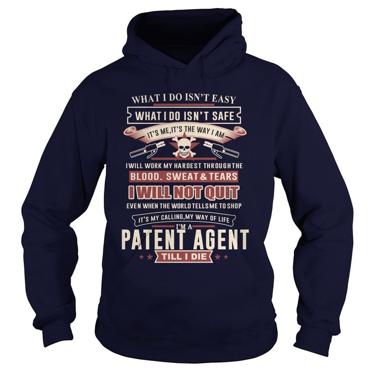 PATENT AGENT I WILL NOT QUIT T-Shirts, Hoodies. ADD TO CART ==► https://www.sunfrog.com/LifeStyle/PATENT-AGENT-SKULL-2-Navy-Blue-Hoodie.html?id=41382