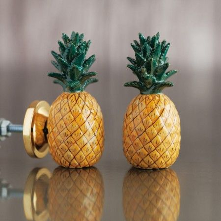 Pineapple Ceramic Knob - Door Knobs, Handles & Hooks - Treat Your Home - Home Accessories