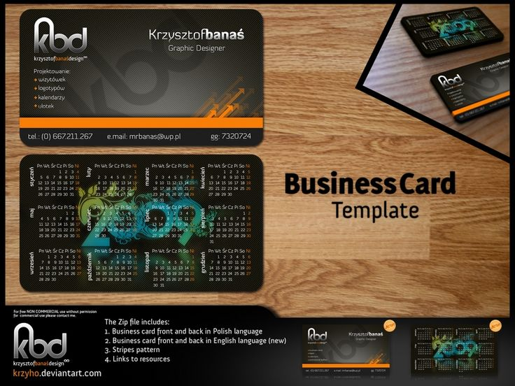 Business Card Template by ~Krzyho on deviantART