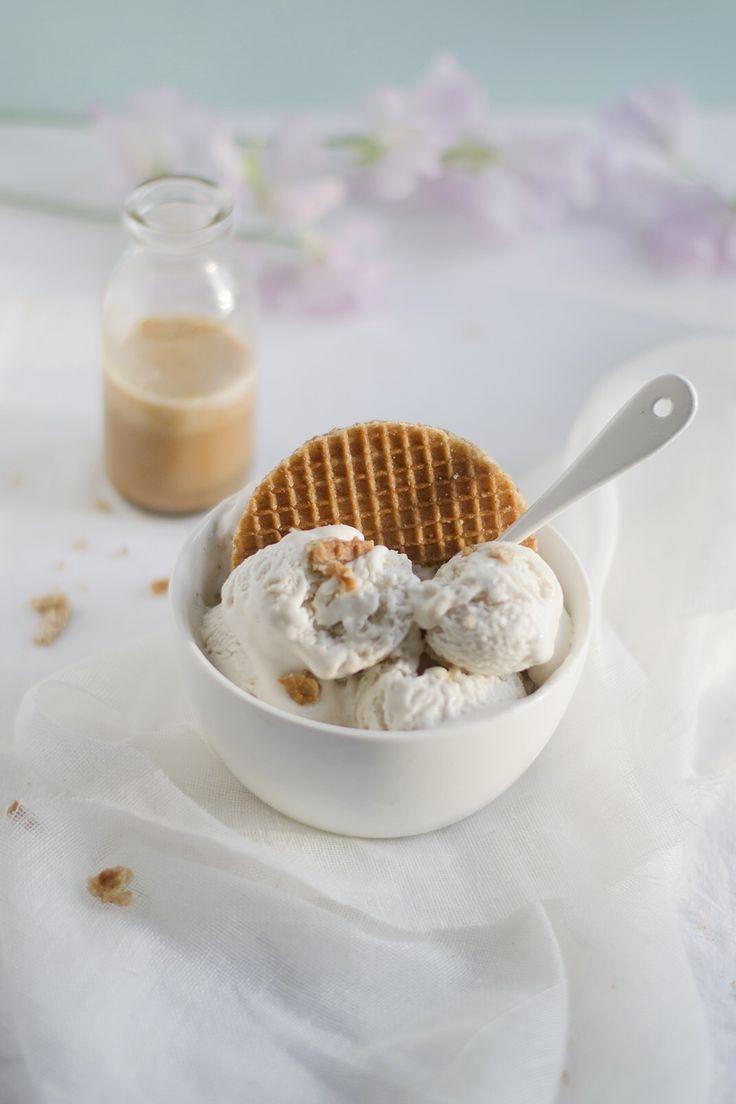 Glace au lait de coco et caramel salé vegan