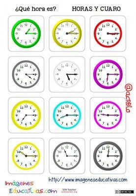 fichas de relojes analógicos. (7)