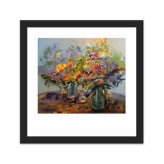 Dve kytice (Two Bouquets) (12×12)