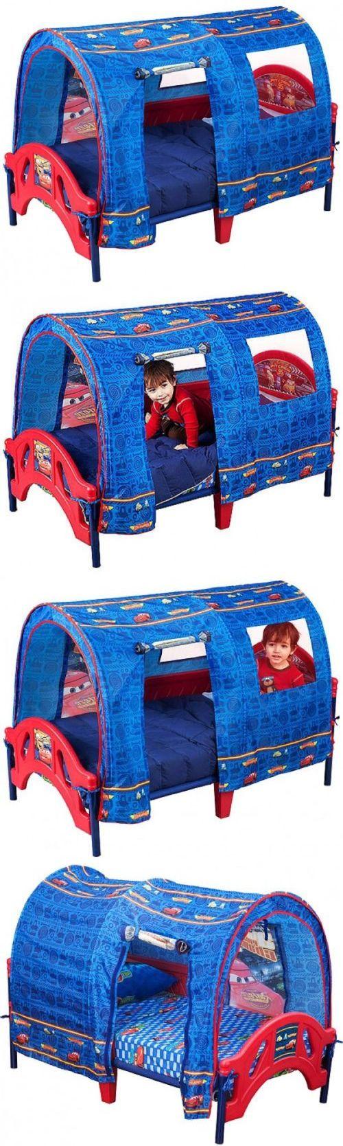 Kids Furniture: Disney Cars Lightweight Toddler Canopy Bed Set Kids Bedroom  Furniture With Tent -