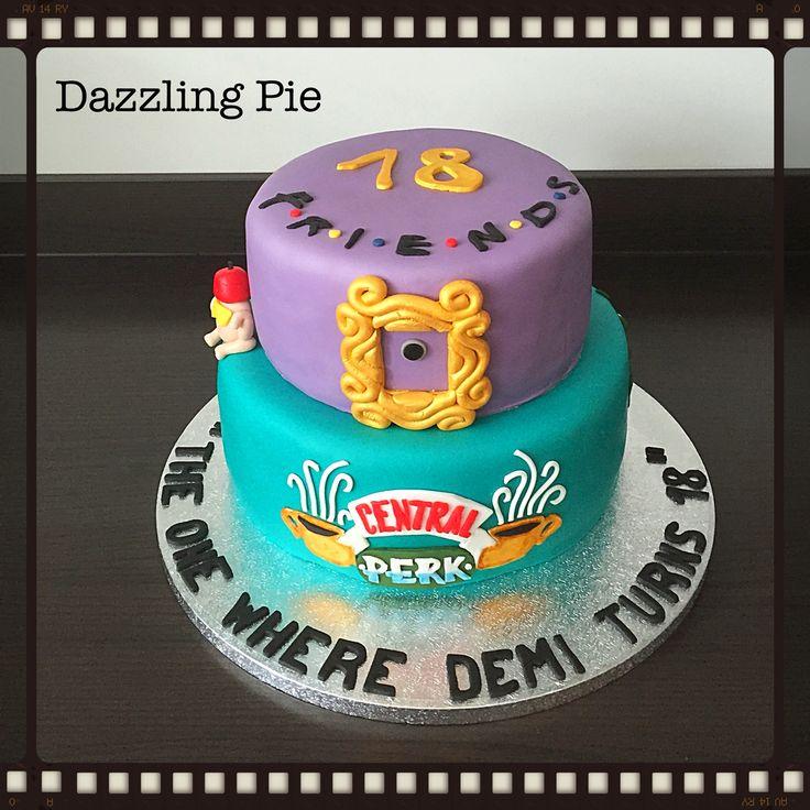 Cake theme Friends made by Dazzling Pie