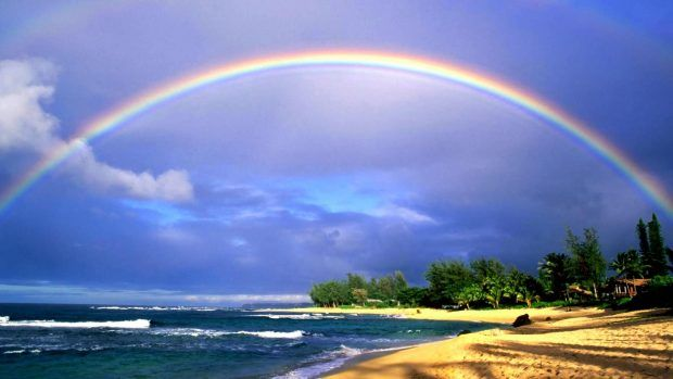 Nature Hawaii Wallpapers Hd With Images Rainbow Pictures