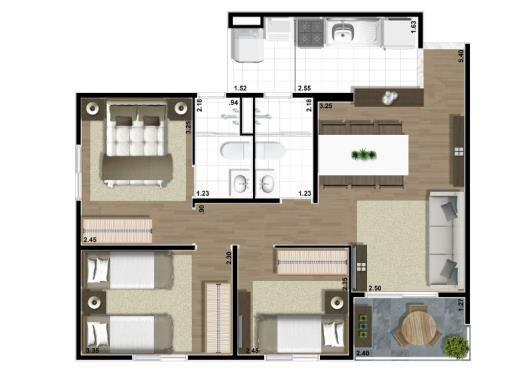 Apartamento à venda em Vl Ema, São Paulo - 61m², R$ 260.295 - ZAP Imóveis