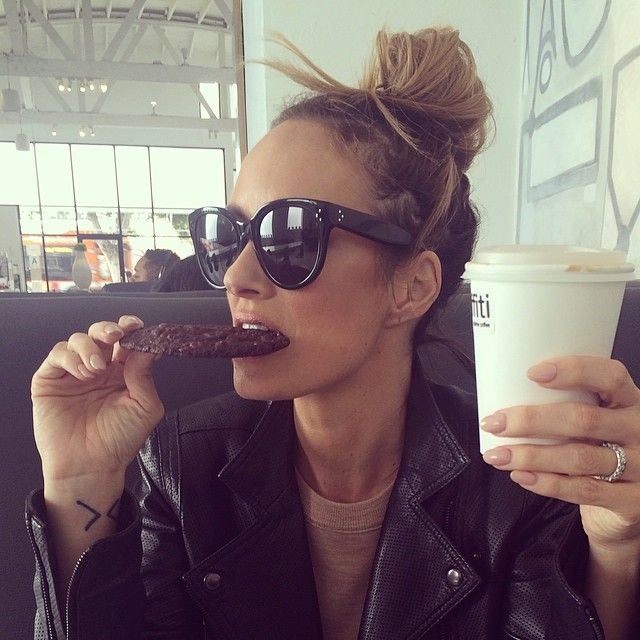 Catt Sadler's amazing top knot