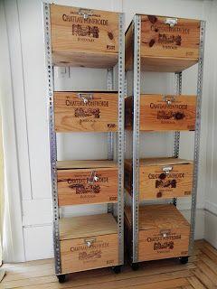 Casa di Aria: DIY 1-2-3: How to Create an Affordable, Industrial Wine Crate Shelf