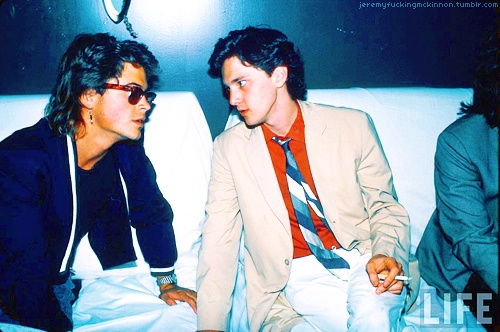 Andrew McCarthy and Rob Lowe... 80's flashback! Rob Lowe tho