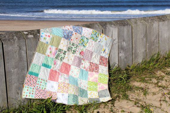 Patchwork Quilt Traditional Design with Modern by IssabellaTheCat