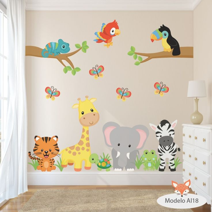 vinilos decorativos infantiles arboles animales aib 11 al 20