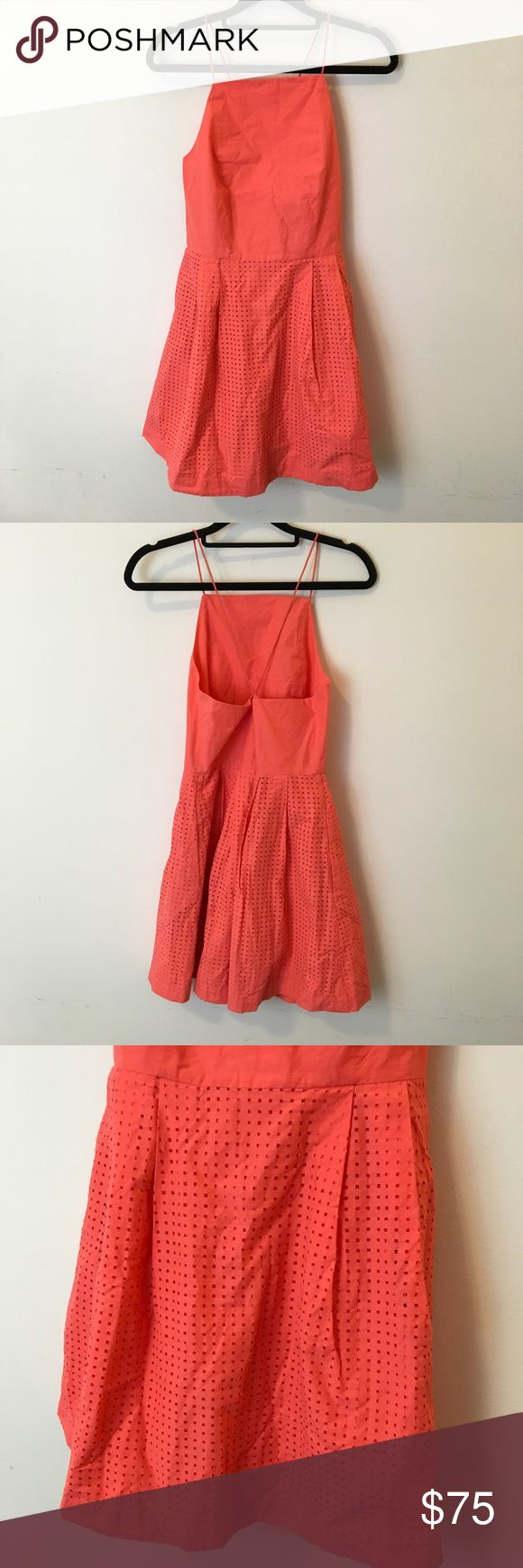 Saturday By Kate Spade Orange Cut Out Skater Dress Saturday by Kate Spade dress skater style and is lined. Pockets and is a size 8. Sleeveless and is in great condition worn once. kate spade Dresses