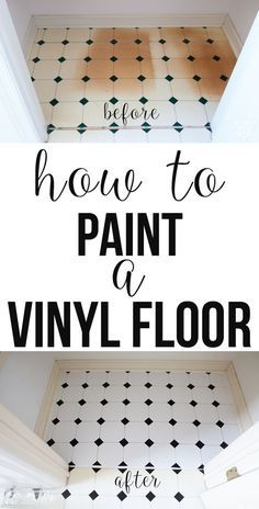 DIY: How to fix a damaged vinyl floor. Use this paint to do it so it lasts.