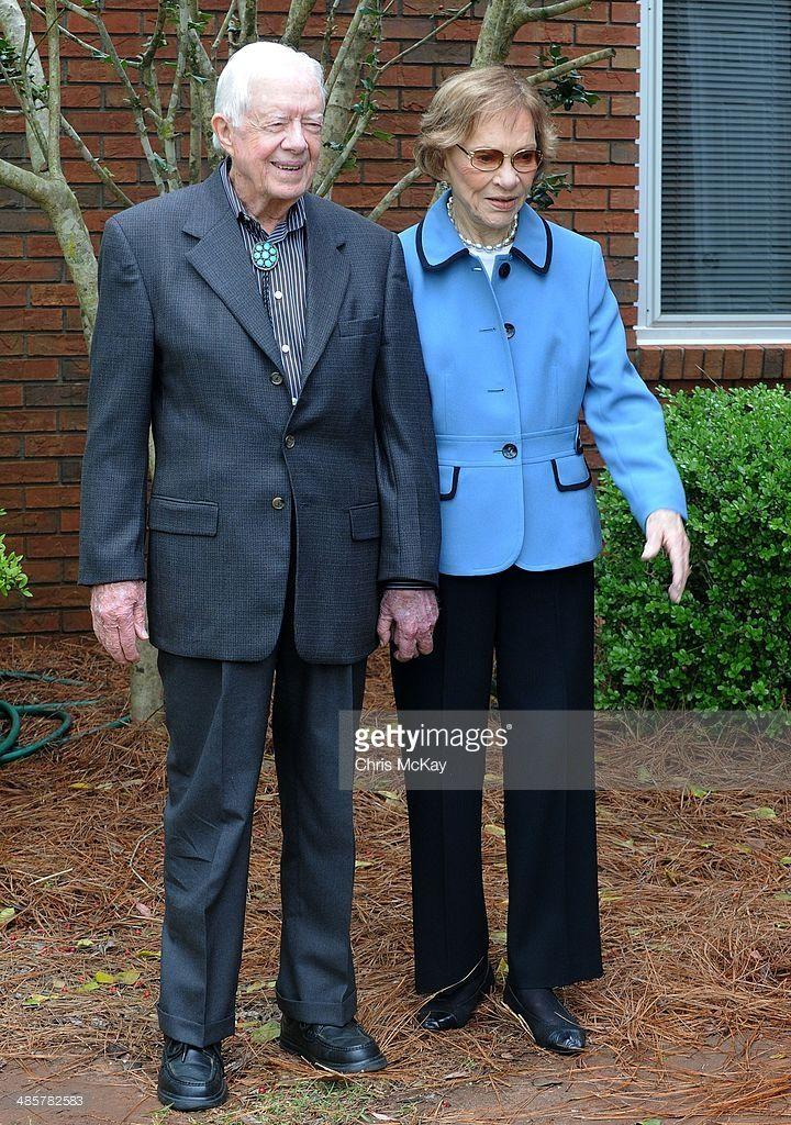 Former President Jimmy Carter and Rosalynn Carter attend church on Easter Sunday…