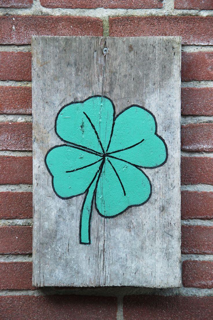 Scrap wood painting- Clover