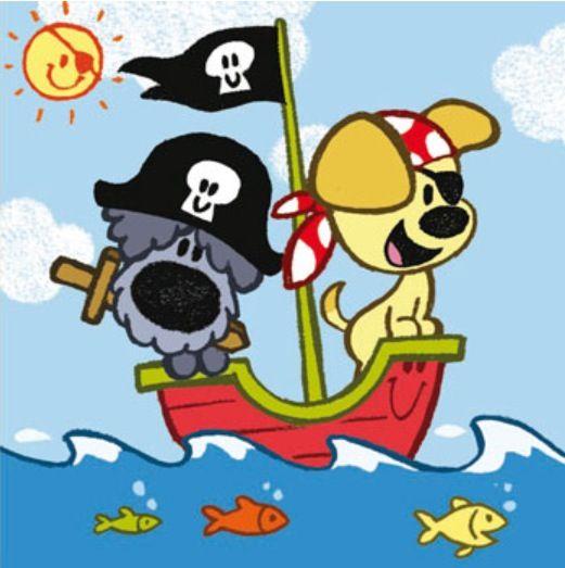 Woezel en pip als piraten, nog omzetten in pixelpatroon