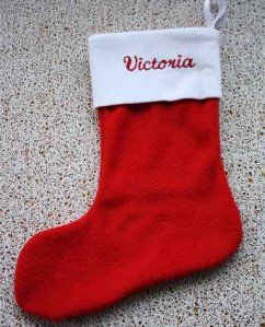 Nothing more special to have a special christmas stocking with your name on it!   Please go to my website to order. :)